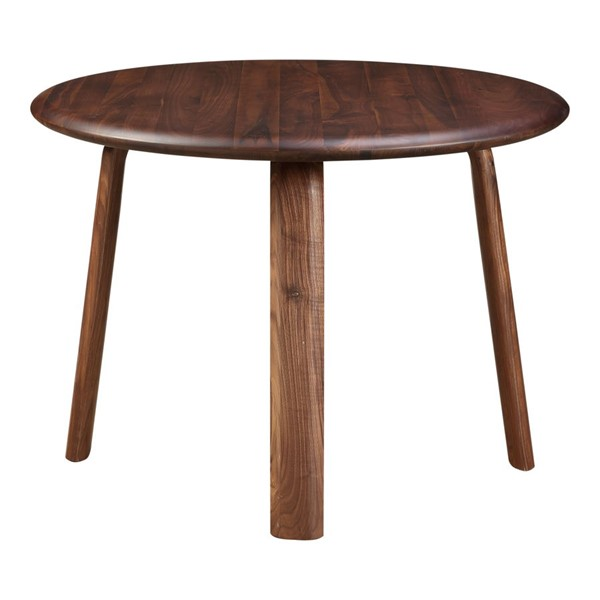 Moes Home Malibu Walnut Wood Round Dining Table MOE-BC-1047-03