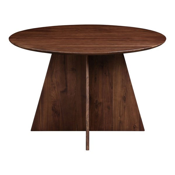 Moes Home Veneto Natural Walnut Round Dining Table MOE-BC-1075-03