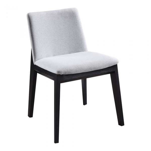 2 Moes Home Deco Light Grey Dining Chairs MOE-BC-1095-29