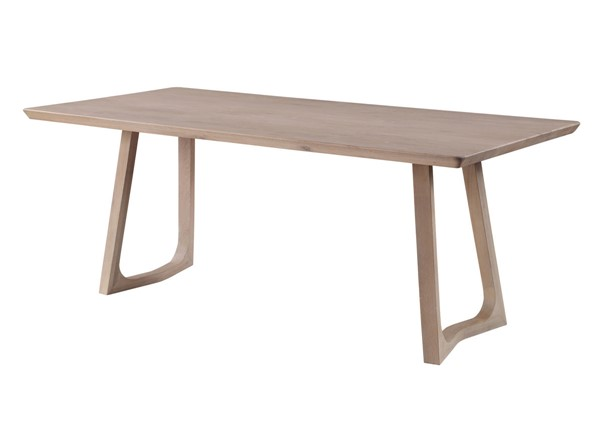 Moes Home Silas White Wash Dining Table MOE-BC-1098-18