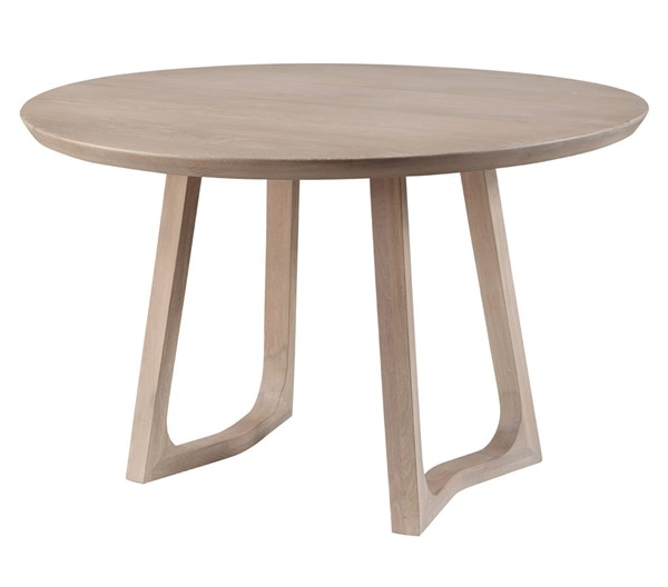 Moes Home Silas White Wash Round Dining Table MOE-BC-1101-18