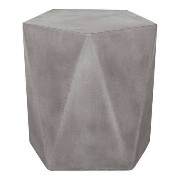 Moes Home Gem Modern Dark Grey Outdoor Stool MOE-BQ-1023-25