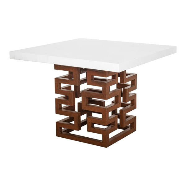 Moes Home Ivey White Ceramic Outdoor Square Dining Table MOE-BQ-1042-18