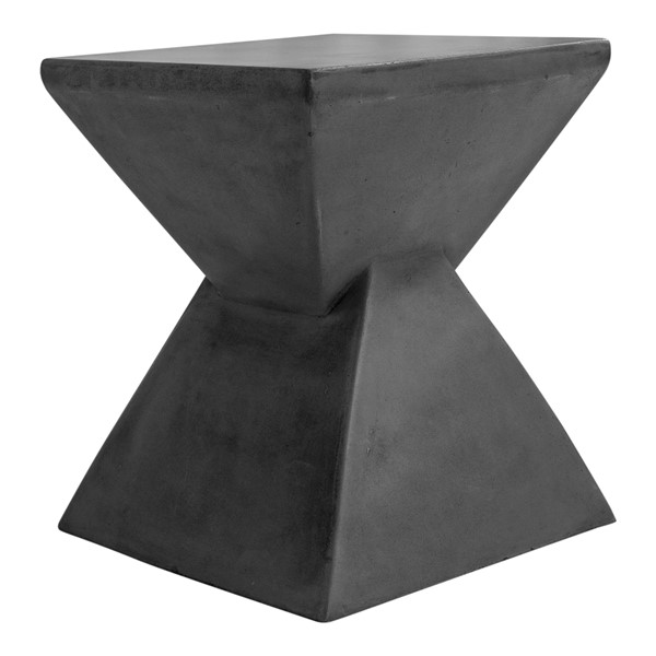 Moes Home Xero Lava Grey Concrete Outdoor Stool MOE-BQ-1052-25