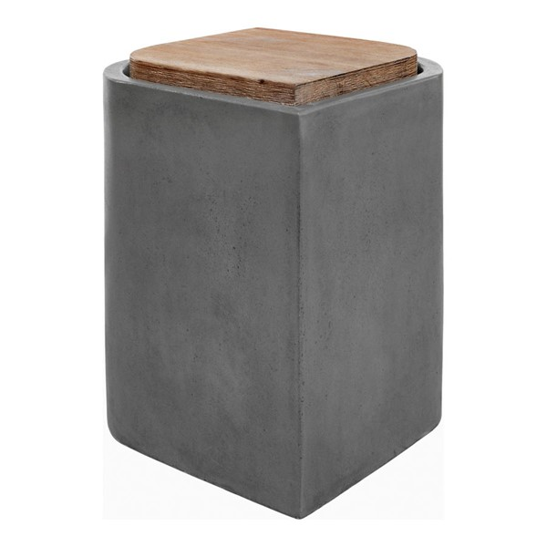 Moes Home Marquis Dark Grey Outdoor Stool MOE-BQ-1054-25