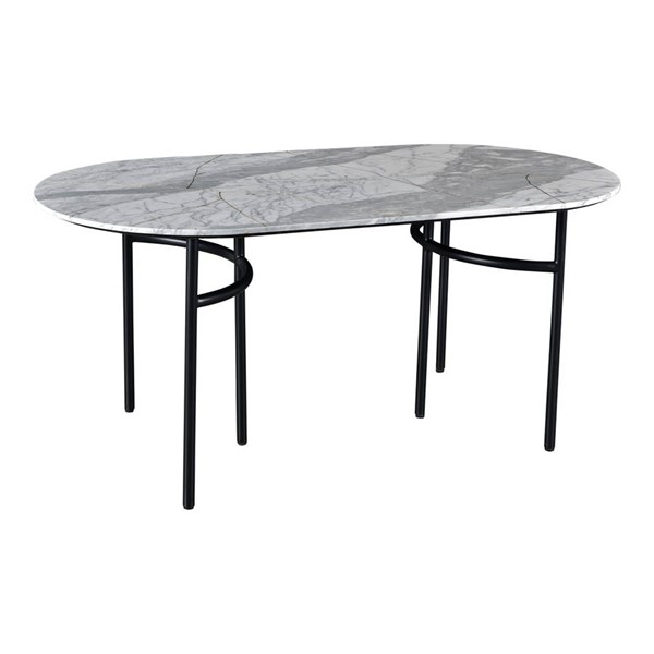 Moes Home Stile White Marble Dining Table MOE-BZ-1085-18