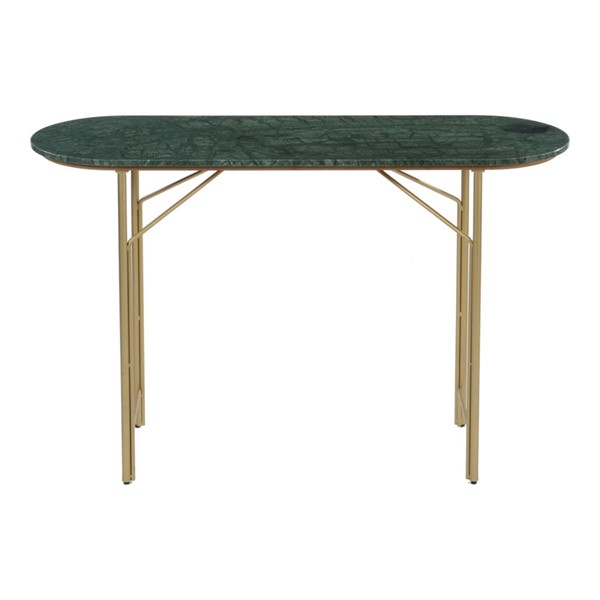 Moes Home Verde Green Marble Console Table MOE-BZ-1093-16