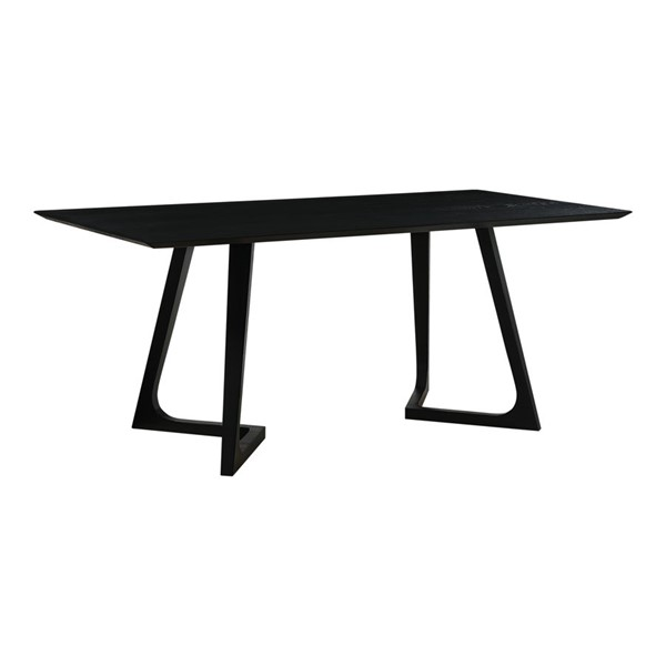 Moes Home Godenza Black Wood Rectangle Dining Table MOE-CB-1004-02