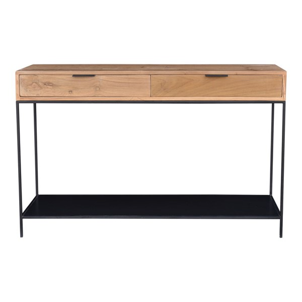 Moes Home Joliet Natural Console Table MOE-DR-1325-24