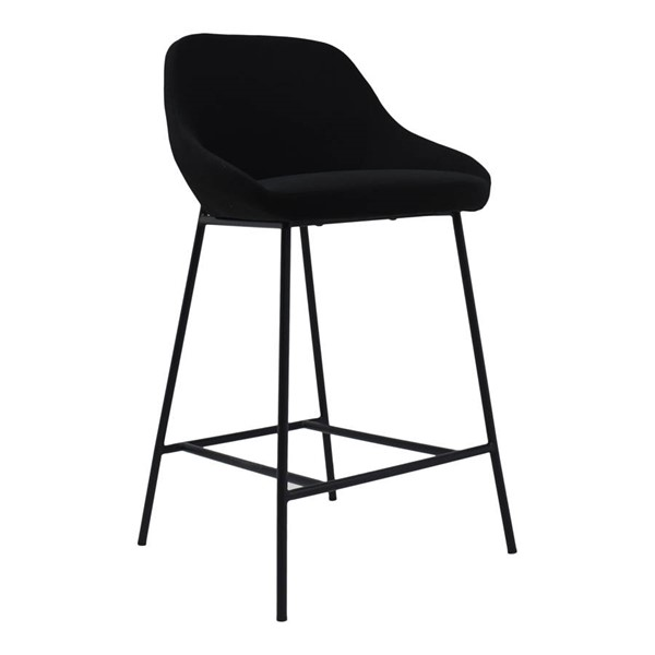 Moes Home Shelby Black Fabric Counter Height Stool MOE-EJ-1038-02