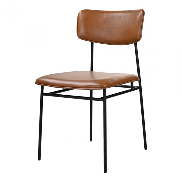 2 Moes Home Sailor Brown Dining Chairs MOE-EQ-1016-03