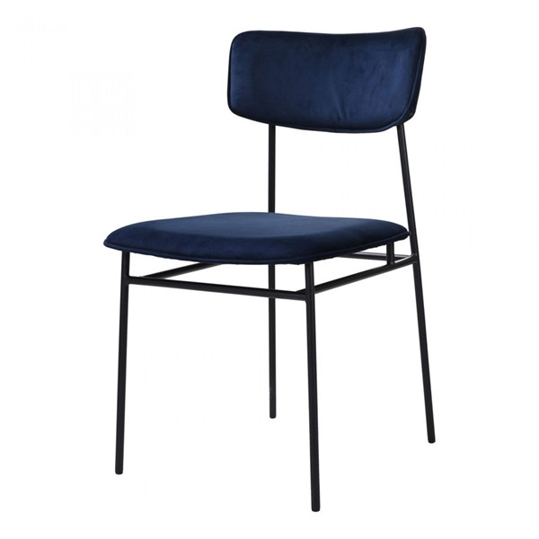 2 Moes Home Sailor Blue Dining Chairs MOE-EQ-1016-26