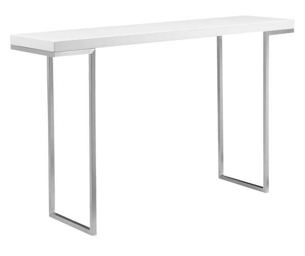 Moes Home Repetir White Lacquer Console Table MOE-ER-1023-18