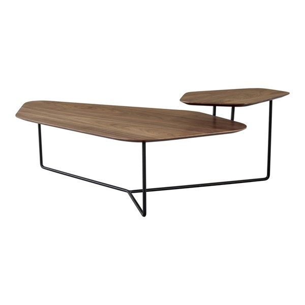 Moes Home Hexo Walnut Natural Coffee Table MOE-FJ-1003-03