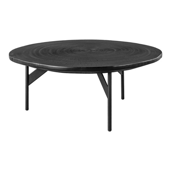 Moes Home Oscar Black Solid Mahogany Coffee Table MOE-FJ-1007-02