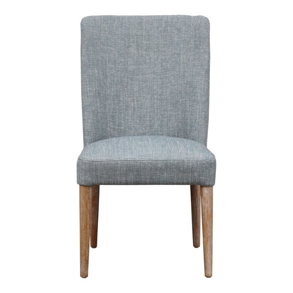 2 Moes Home Indiana Teal Cotton Dining Chairs MOE-FN-1037-36