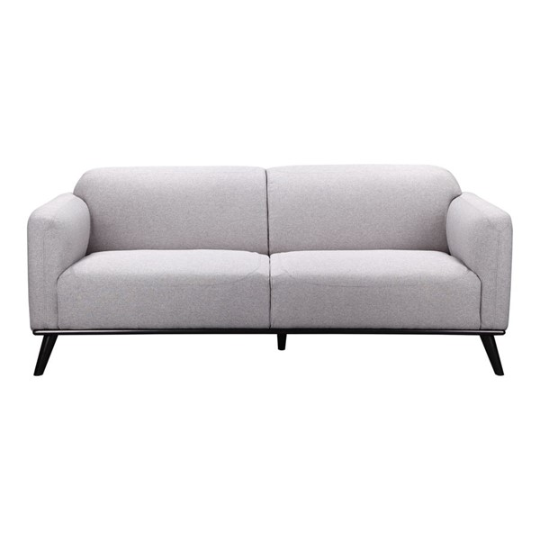 Moes Home Peppy Grey Fabric Sofa MOE-FW-1006-15