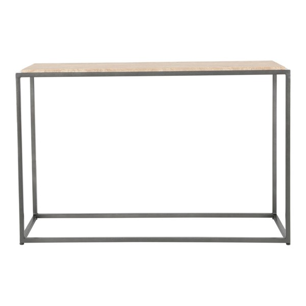 Moes Home Winslow Cappuccino Marble Console Table MOE-GK-1003-14