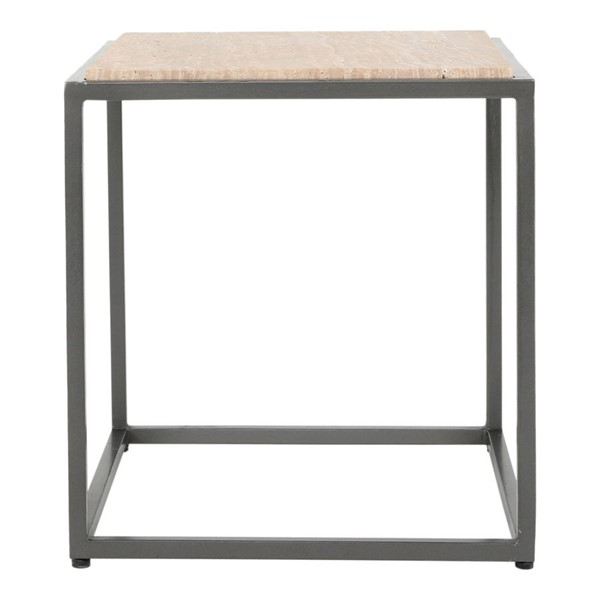 Moes Home Winslow Cappuccino Marble Side Table MOE-GK-1004-14