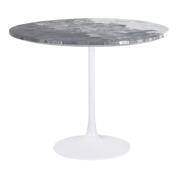 Moes Home Pierce Grey Round Dining Table MOE-GK-1115-15