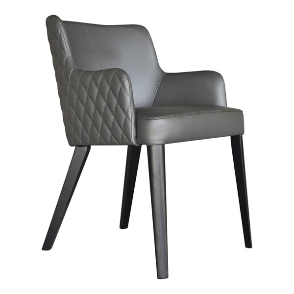 Moes Home Zayden Light Grey Leather Dining Chair MOE-GO-1004-29