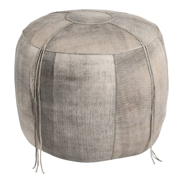 Moes Home Matteo Stone Wash Leather Ottoman MOE-GR-1028-15