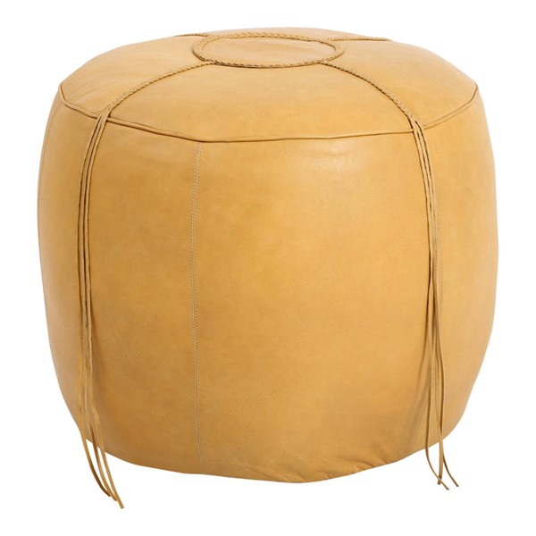 Moes Home Matteo Natural Leather Ottoman MOE-GR-1028-24