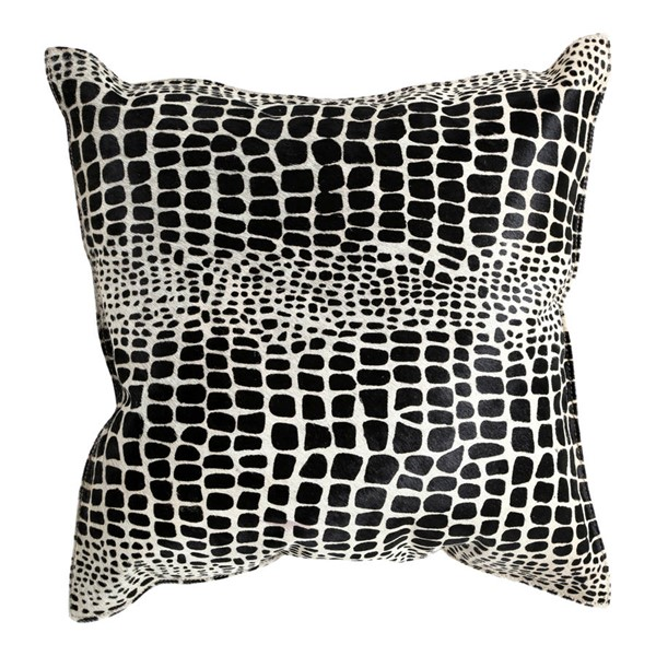 Moes Home Black Sami Leather Pillow MOE-GR-1030-02