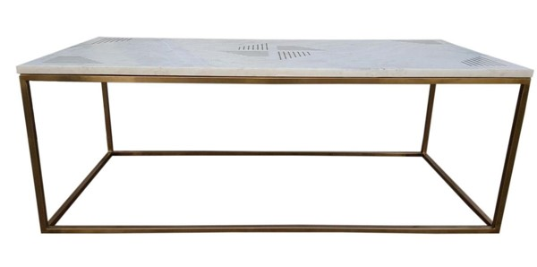 Moes Home Quarry White Marble Coffee Table MOE-GZ-1001-18