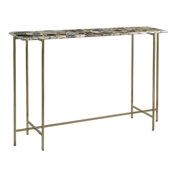 Moes Home Agate Metal Console Table MOE-GZ-1006-37