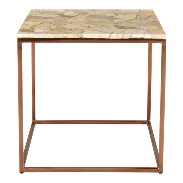 Moes Home Moxie Natural Marble Side Table MOE-GZ-1017-24