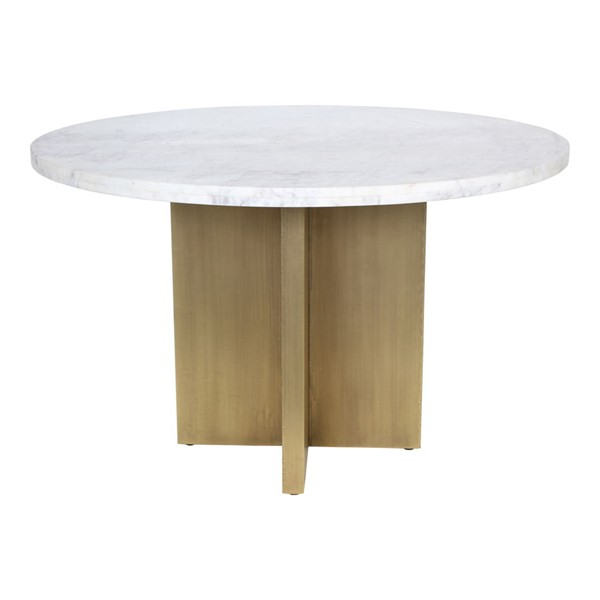 Moes Home Graze White Antique Dining Table MOE-GZ-1144-18