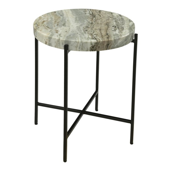 Moes Home Cirque Light Brown Marble Accent Table MOE-IK-1010-21