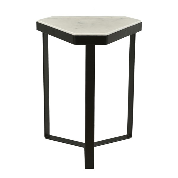 Moes Home Inform White Marble Accent Table MOE-IK-1015-18