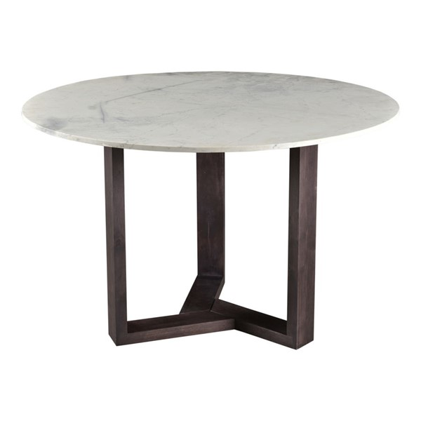 Moes Home Jinxx White Charcoal Marble Dining Table MOE-JD-1009-07