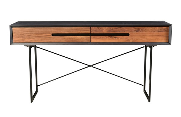 Moes Home Vienna Light Brown Wood Console Table MOE-JD-1015-21