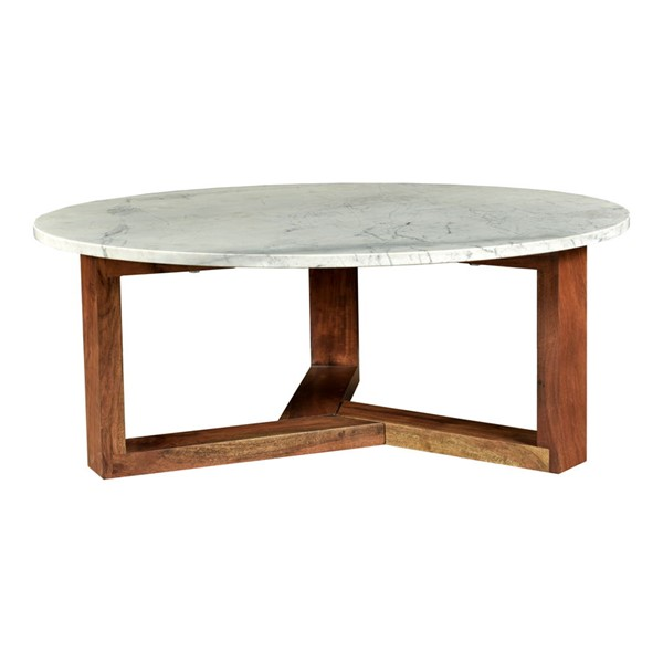 Moes Home Jinxx White Marble Coffee Table MOE-JD-1020-18