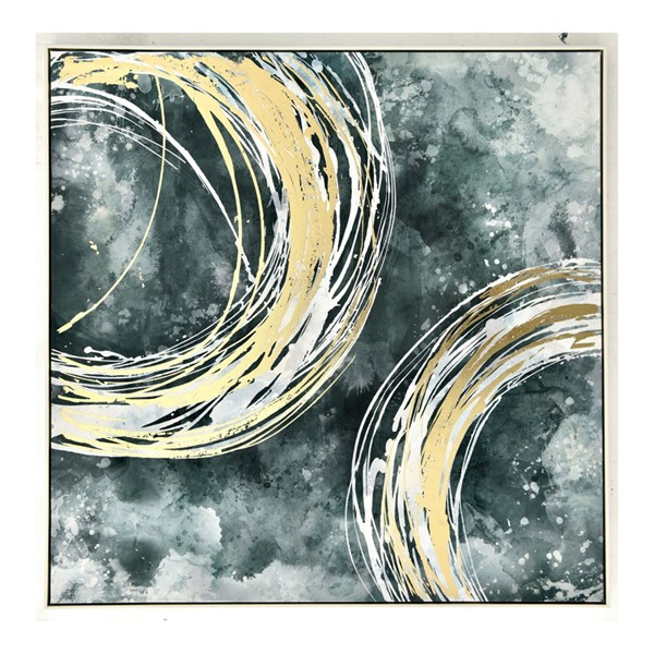 Moes Home Gold Strands Square 2 Wall Decor MOE-JQ-1029-37
