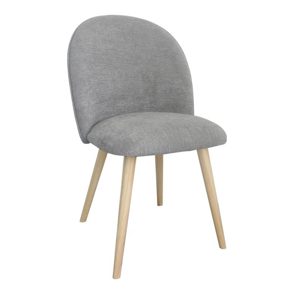 2 Moes Home Clarissa Grey Dining Chairs MOE-JW-1002-15