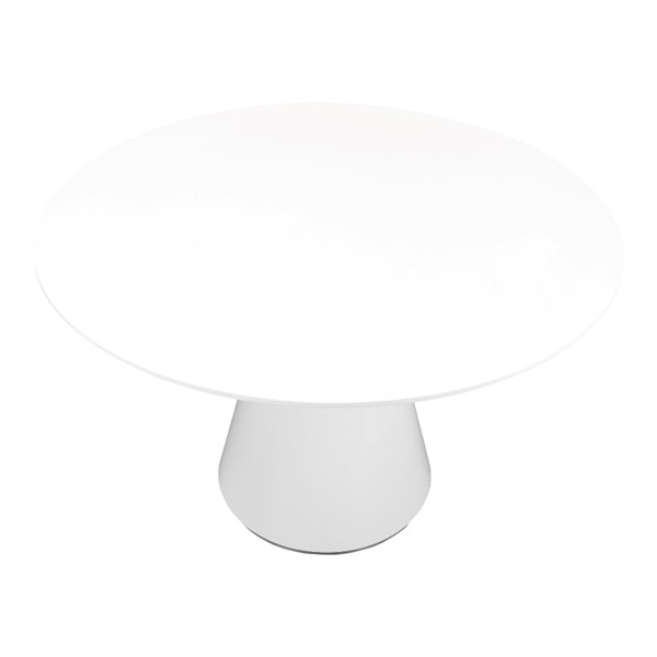 Moes Home Otago White Round Dining Table MOE-KC-1028-18