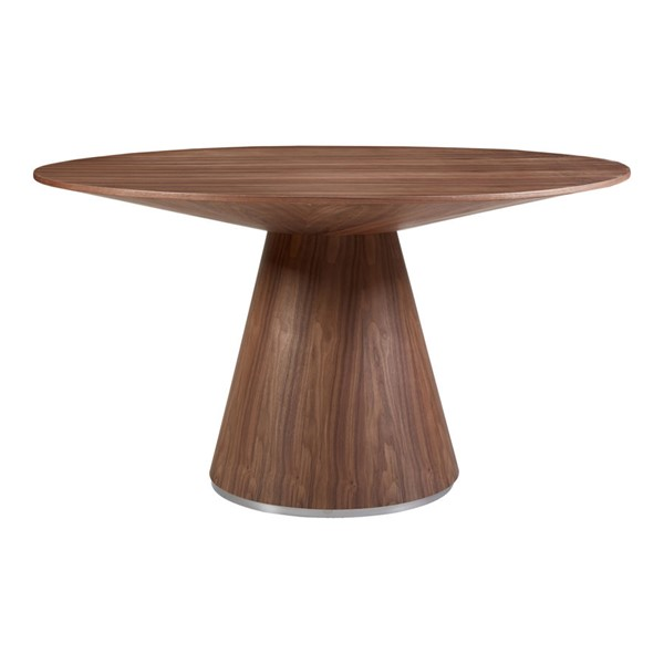 Moes Home Otago Walnut 54 Inch Round Dining Table MOE-KC-1029-03