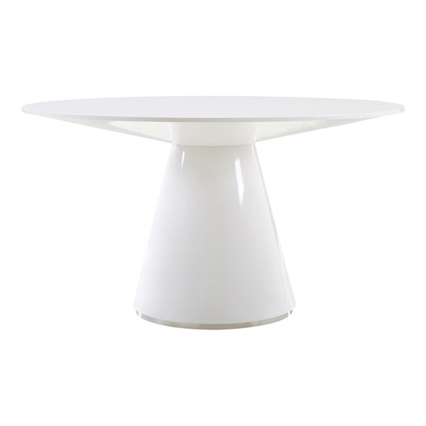 Moes Home Otago White 54 Inch Round Dining Table MOE-KC-1029-18