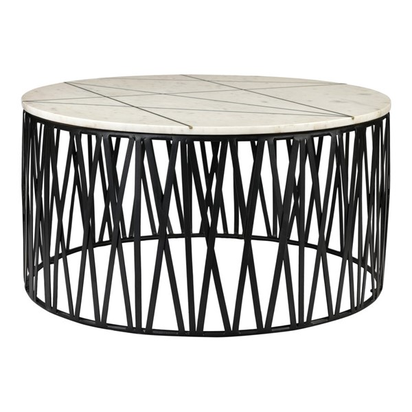 Moes Home Calcutta White Marble Coffee Table MOE-KY-1004-18