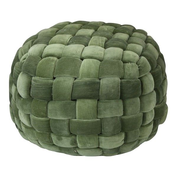 Moes Home Jazzy Green Fabric Pouf MOE-LK-1005-08