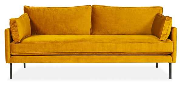 Moes Home Cultivate Yellow Golden Loveseat MOE-LOV-WB-002-028