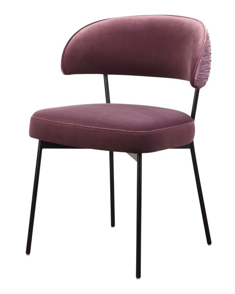 Moes Home Dolce Purple Polyester Metal Dining Chair MOE-ME-1055-10