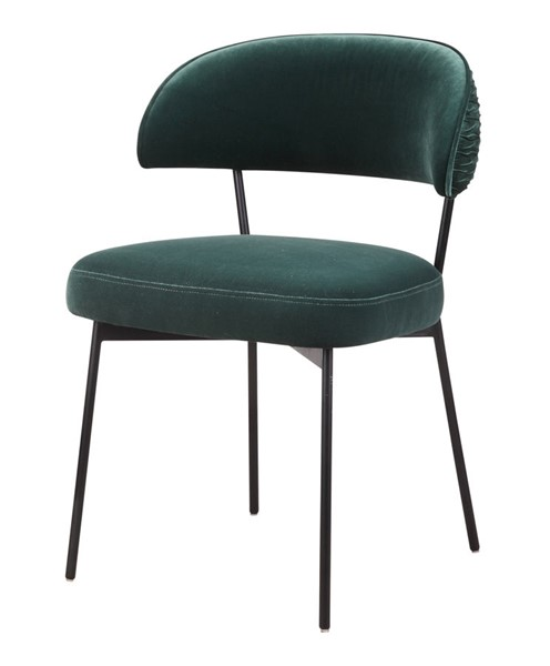 Moes Home Dolce Dark Green Polyester Metal Dining Chair MOE-ME-1055-27