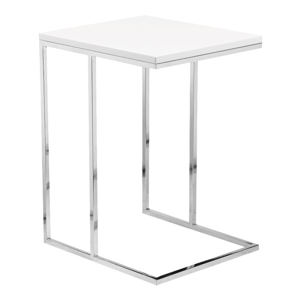 Moes Home Posta White Accent Table MOE-MS-1012-18