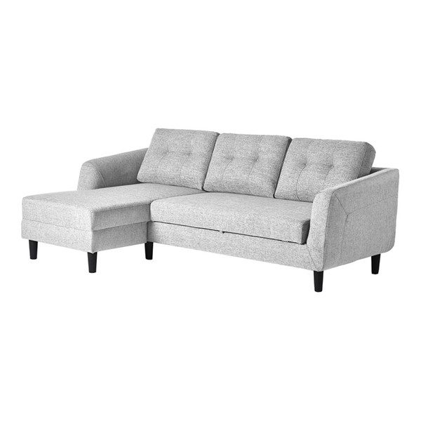 Moes Home Belagio Light Grey Fabric Left Sofa Bed With Chaise MOE-MT-1019-29-L