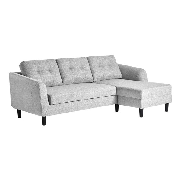 Moes Home Belagio Light Grey Fabric Right Sofa Bed With Chaise MOE-MT-1019-29-R